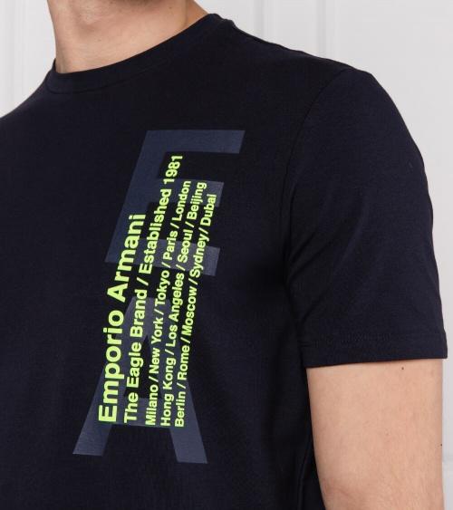 Emporio Armani Camiseta Marino Ciudades detalle
