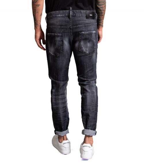 Dsquared2 Jeans Black 1964 modelo detrás