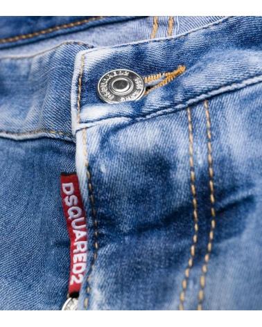 Dsquared2 Jeans Claro Pintura Orange detalle botón