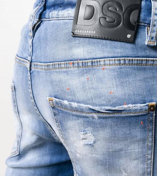 Dsquared2 Jeans Claro Pintura Orange detalle