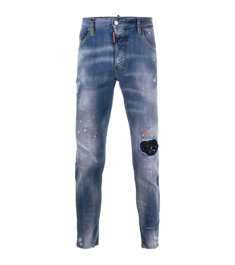 Dsquared2 Jeans Claro Pintura Orange
