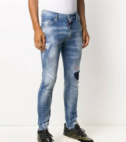Dsquared2 Jeans Claro Pintura Orange modelo