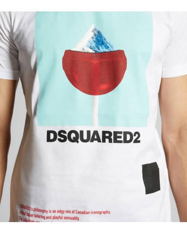 Dsquared2 Camiseta Chupachups Montaña detalle
