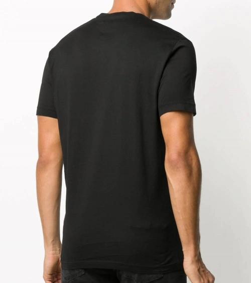 Dsquared2 Camiseta Negra Logo Degradé modelo espalda