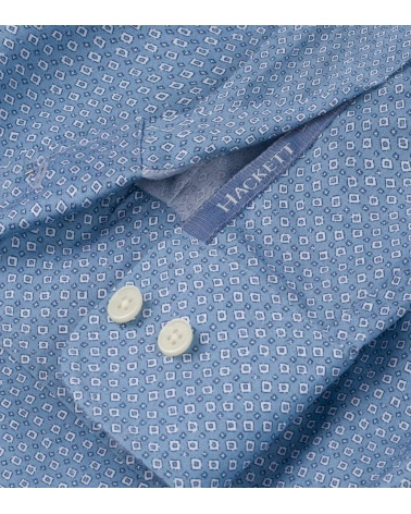 Hackett London Camisa Avio Geo Print puño