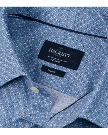 Hackett London Camisa Avio Geo Print cuello