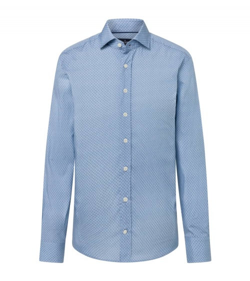 Hackett London Camisa Avio Geo Print