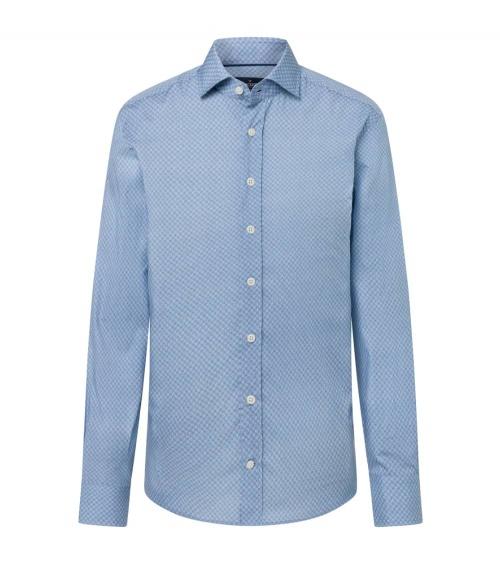 Hackett London Camisa Avio Geo Print